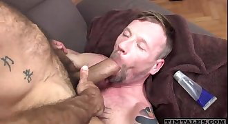 Black dude suck daddy's big super hairy cock