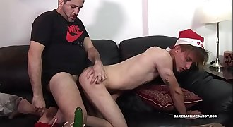Daddy and Twink Xmas Raw Flip Fuck