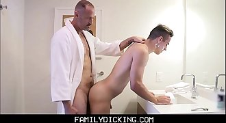 Twink Step Son Trained How To Shave And Get Fucked By His Step Dad