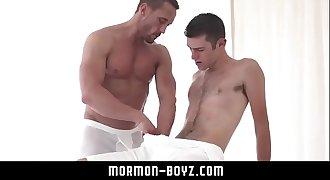 Hairy youngster boy anal fucked raw by hot muscle dad MORMON-BOYZ.COM
