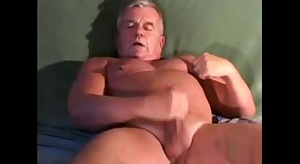 mature hairless and hot nipped dad jacks off